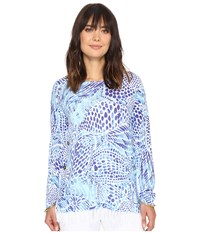 Lilly Pulitzer Ramona Sweater Brilliant Blue Blue Tang Gang Women's Sweater