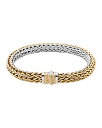 Classic Chain Medium Reversible Silver And Gold Bracelet John Hardy Silver Gold