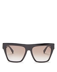 Mcm Square Flat Top Sunglasses 55Mm Black Black Gradient Lens