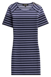 Juicy Couture Striped Jersey Dress Purple