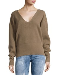 Free People Allure V Neck Sweater Taupe