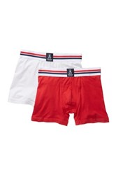 Psycho Bunny Motion Boxer Brief Pack Of 2 Red