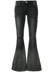 One Teaspoon Low Rise Flared Jeans Black