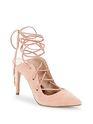 Bcbgeneration Hayes Suede Lace Up Pumps Rose