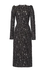 Dolce And Gabbana 3D Metallic Jacquard Dress Black