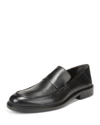 Vince Barry Leather Loafers Black