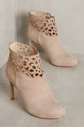 Anthropologie Miss Albright Benna Heeled Booties Taupe