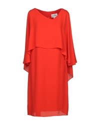Joseph Ribkoff Knee Length Dresses Red