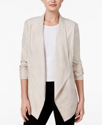 Jm Collection Faux Suede Open Front Jacket Only At Macy's Stonewall
