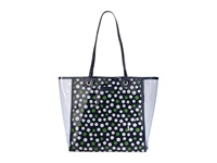 Vera Bradley Clearly Colorful Tote Lucky Dots Tote Handbags Blue