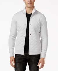 Inc International Concepts Men's Santiago Quilted Jacket Only At Macy's Silver Stream