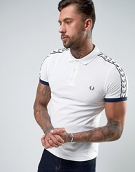 Fred Perry Sports Authentic Polo Shirt In Slim Fit Snow White