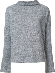 Just Female Melange Boat Neck Jumper Grey