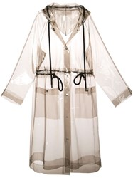 Proenza Schouler Pswl Transparent Raincoat Grey