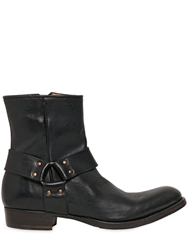 Buttero Western Leather Boot Black