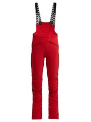 Perfect Moment Isola Racing Dungarees Red