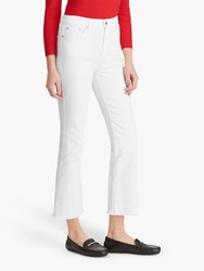 Ralph Lauren Regal Straight Cropped Jeans White Wash