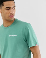 Element Blazin T Shirt With Logo In Pale Green