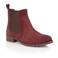 Lotus Nydia Suede Ankle Boots Red