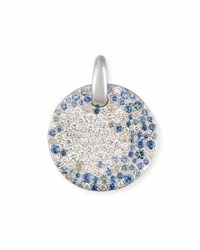 Pomellato Sabbia Diamond And Sapphire Pendant In 18K White Gold