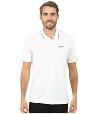Nike Tiger Woods Kimono Heather Mesh Polo Shirt Summit White Heather Cool Grey Reflective Black Men's Short Sleeve Pullover