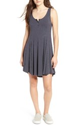 Lush Women's Ribbed Skater Dress Periscope