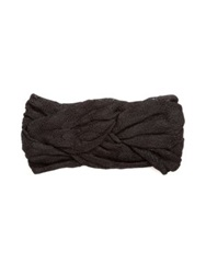 Missoni Braided Knit Headband Purple Black