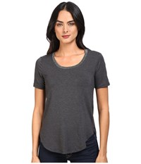 Splendid Sparkle Tee Charcoal Women's T Shirt Gray