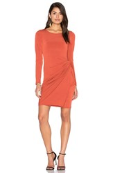 Donna Mizani Knot Dress Burnt Orange