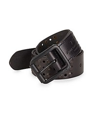 John Varvatos Studded Leather Belt Black
