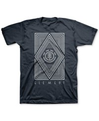Element Men's Graphic Print T Shirt Nvy Navy