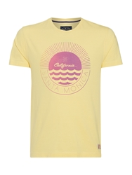 Criminal Santa Monica Graphic T Shirt Yellow