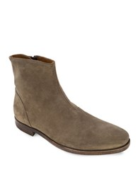 Robert Wayne Jacob Suede Plain Toe Ankle Boots Sand