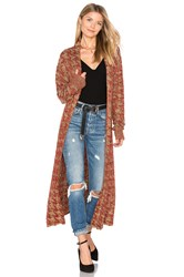 Tularosa X Revolve Annie Long Knit Coat Red