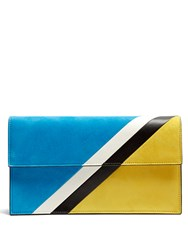 Tomasini Caiman Suede Clutch Yellow Multi