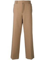 Oamc Wide Leg Pleated Trousers Nude And Neutrals