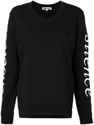 Mcq By Alexander Mcqueen Senseless Silence Sweatshirt Women Cotton S Black