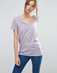 Asos The Ultimate V Neck Slouchy T Shirt Lilac Purple