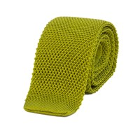 40 Colori Avocado Solid Silk Knitted Tie Green
