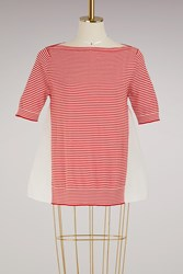 Moncler Knitted T Shirt Red White