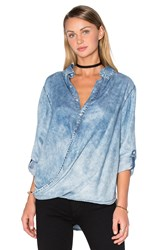 Blank Nyc Drape Front Top Blue