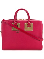 Sophie Hulme Cromwell Bowling Bag Women Leather One Size Red