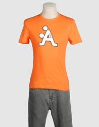A Style Short Sleeve T Shirts Orange