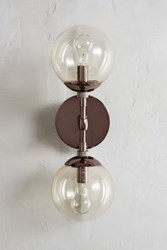 Anthropologie Double Perryman Sconce Brown Nickel