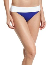 Tommy Bahama Deck Fold Over Swim Bottom Blue White