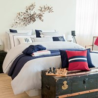 Tommy Hilfiger Grey Couture Trim Duvet Cover King