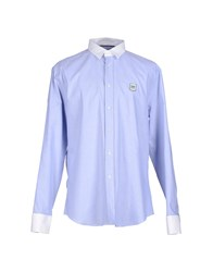 Dirk Bikkembergs Shirts Shirts Men Blue