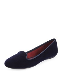 Splendid Cannes Velvet Loafer Navy