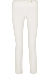 Versace Stretch Crepe Skinny Pants White