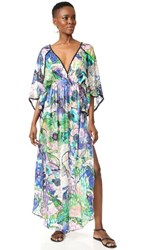 Roberto Cavalli Printed Caftan Multi Grape